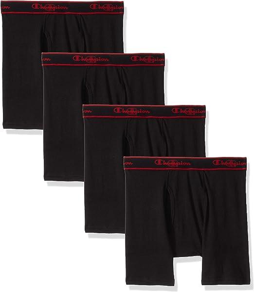 Champion Mens Elite X-Temp Boxer Briefs w//Vapor Technology 4-Pack