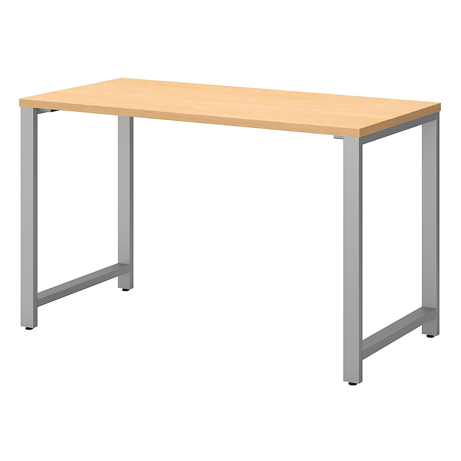 Bush Business Furniture 400 Series 48W x 24D Table Desk in Natural Maple