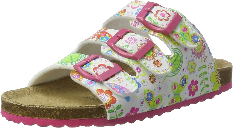 Supersoft Kinder 3er Riemen Hausschuhe Sandalen 474-411 Einhorn Rosa NEU