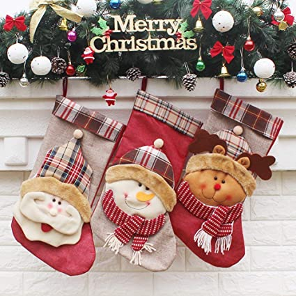 3ceff79fef5 Image Unavailable. Image not available for. Color  YAMUDA Big Size 18″ Christmas  Stockings