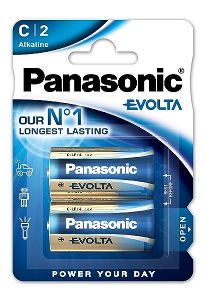 Panasonic Blister 2 Pilas Alcalina LR14 EVOLTA: Amazon.es ...