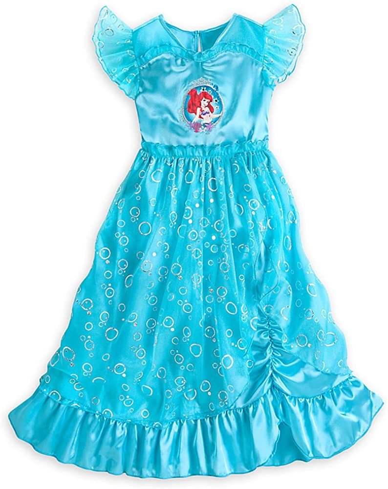 NEW Disney Store Ariel Deluxe Nightgown Costume Little Mermaid Princess many sz