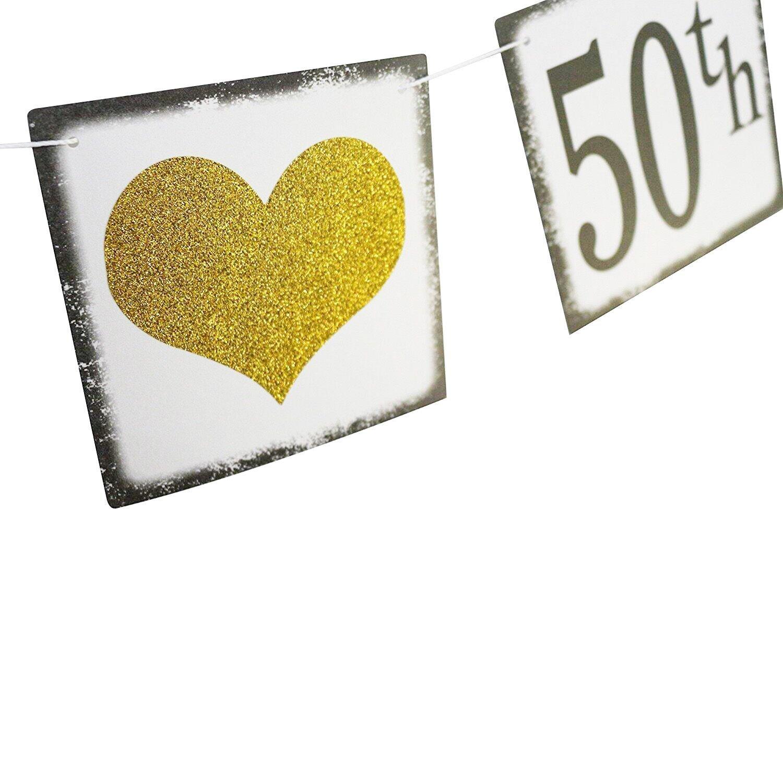 vintage happy 50th birthday banner 50th wedding anniversary