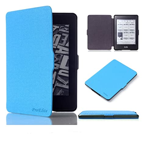ProElite Ultra Slim Smart Flip Case Cover for Amazon Kindle Paperwhite  Auto Sleep/Wake up   Sky Blue  Bags,Cases   Sleeves
