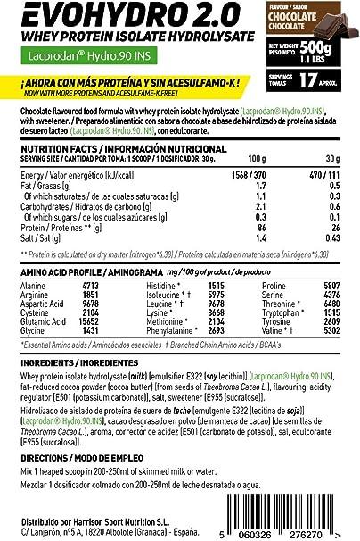 Proteína Hidrolizada de Suero de HSN Evohydro 2.0 | Hydro Whey | A partir de Whey Protein Isolate | Rica en BCAAs y Glutamina | Proteína Vegetariana, ...
