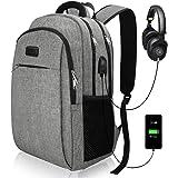 Travel Laptop Backpack, Business Laptop Backpacks USB Charging Port Headphone Interface, Waterproof College School Computer Bag Men/Women Fits 15.6 inch Laptop Tablet IIYBC