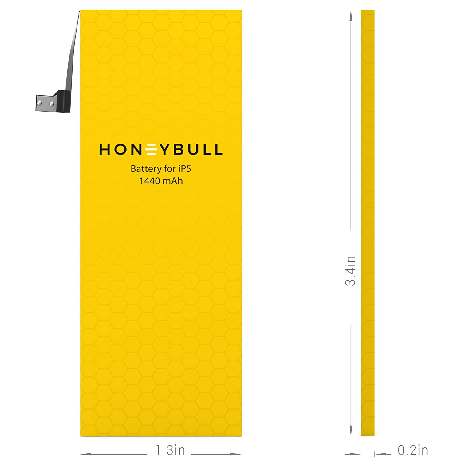 Upgraded New Backup Battery No Tools Included Not for iP5S//iP5C HoneyBull Replacement Battery iP5 1440mAh