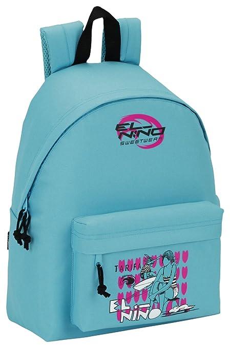"Safta Mochila juvenil Day Pack El Niño ""Turquoise"" Oficial 330x150x420mm"