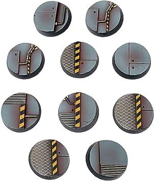 War World Gaming Industry of War - Peanas Sci-Fi Redondas Industriales x 10 (25mm) - 28mm Miniaturas Wargaming Batalla Modelismo Ejército Maqueta Diorama Minis: Amazon.es: Juguetes y juegos