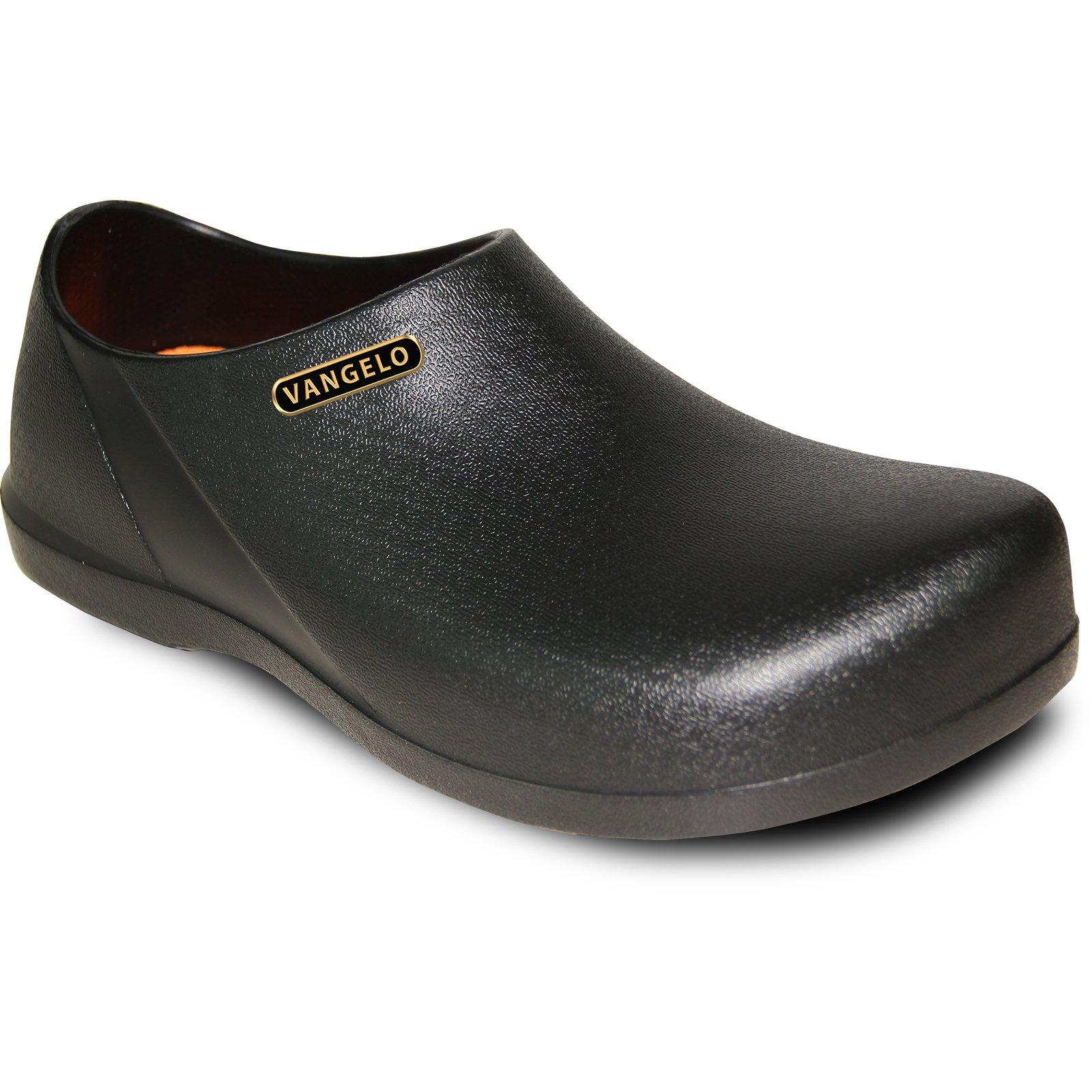 VANGELO Professional Slip Resistant Clog Unisex Work Shoe Carlisle Black by VANGELO