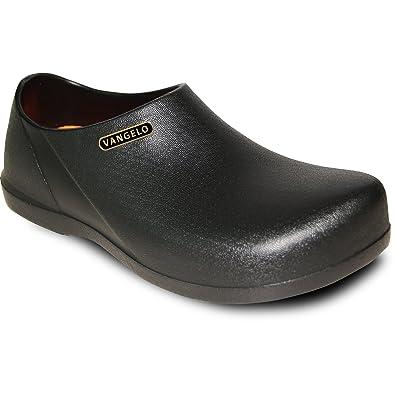 82de07161821 VANGELO Professional Slip Resistant Clog Unisex Work Shoe Carlisle Black