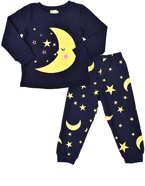 d2feacaad Amazon.com  SORREL Boys Girls Pajamas Moon Stars Cotton Sleep ...