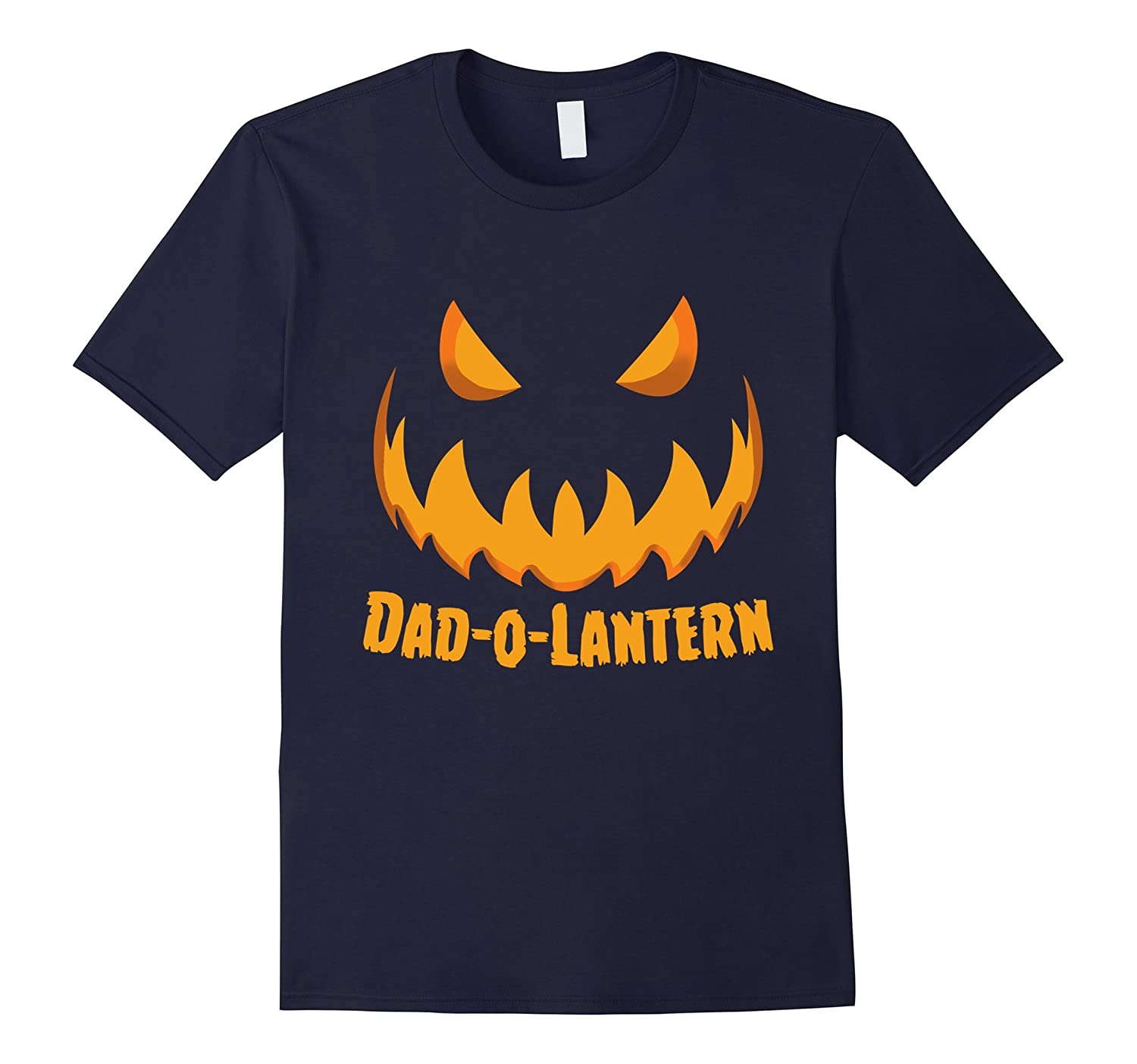 Mens Dad-O-Lantern Scary Pumpkin Halloween T-shirts For Dad-T-Shirt