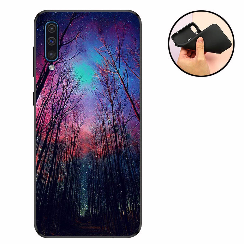 Amazon.com: Silicone TPU for Funda Samsung Galaxy A50 Case ...