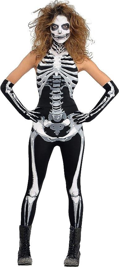 Skeleton Bones Leggings Halloween Costume Accessories Adult Women Plus Size