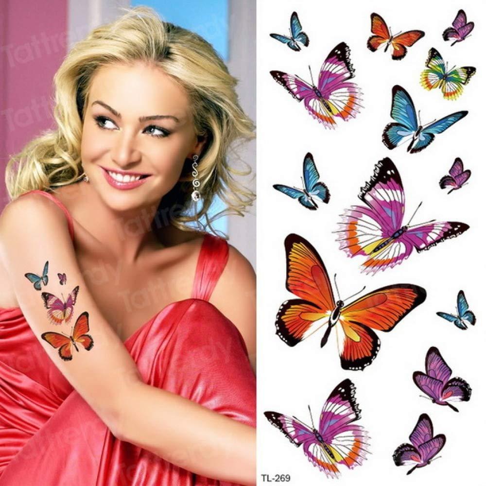 Acuarela Tatuaje Pegatinas Mujeres Body Art Brazo Reed Rama Tatoo ...