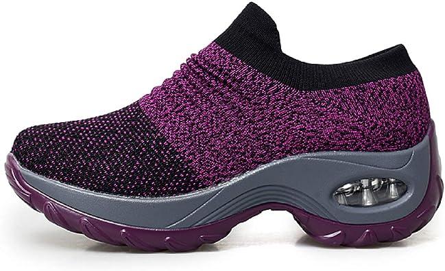 tqgold® Zapatillas de Deporte Zapatillas de Cuña Zapatillas Altas para Mujer Tacón Cuña 4.5CM: Amazon.es: Zapatos y complementos