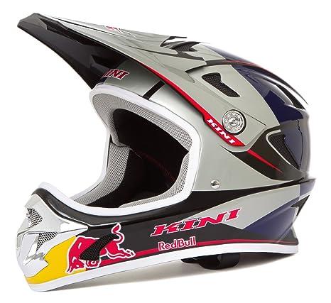 Kini Red Bull Downhill - Casco para Bicicleta de montaña MTB Plata/Azul: Amazon.es: Coche y moto