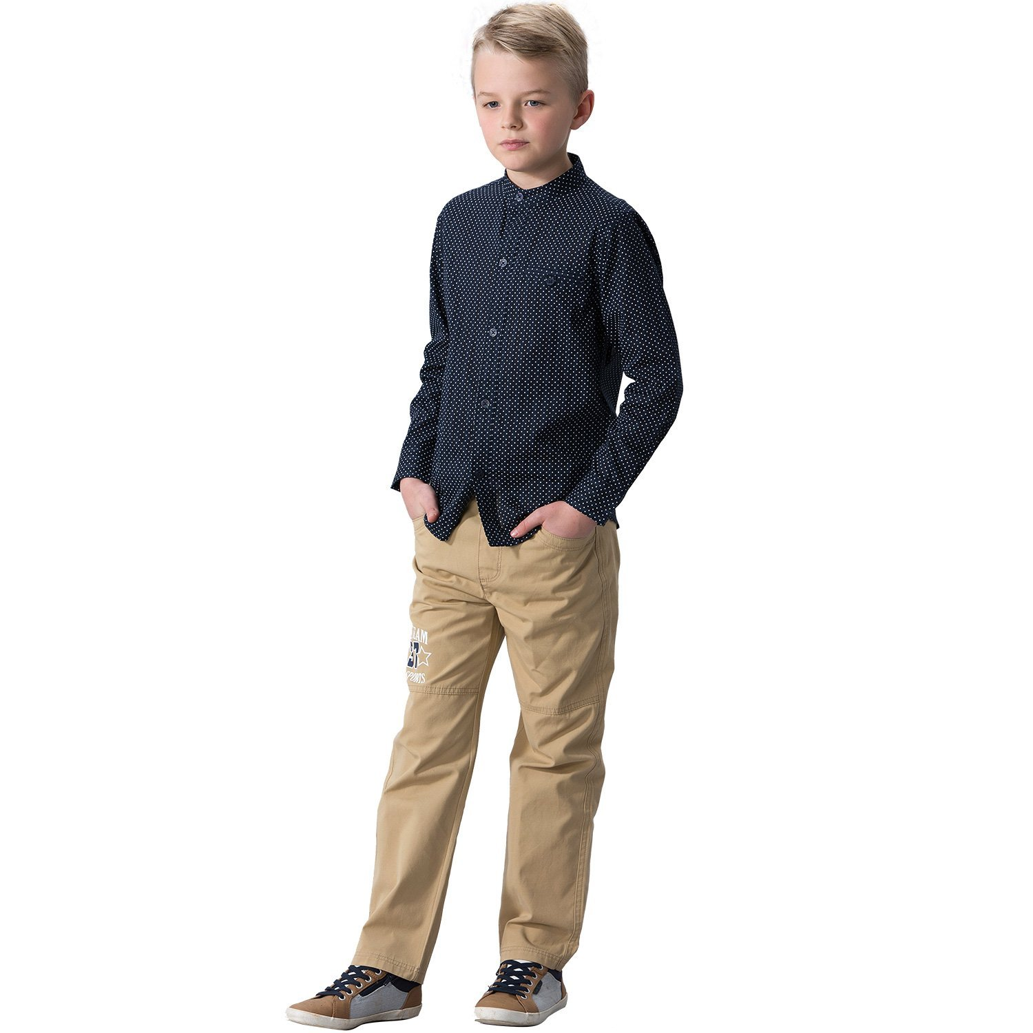 Leo&Lily Big Boys' LLB263-6-Navy, Navy, 6 by Leo&Lily (Image #8)