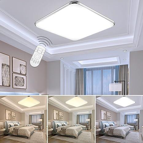 ETiME® 12W Dimmbar Ultraslim LED Deckenleuchte mit Fernbedienung ...