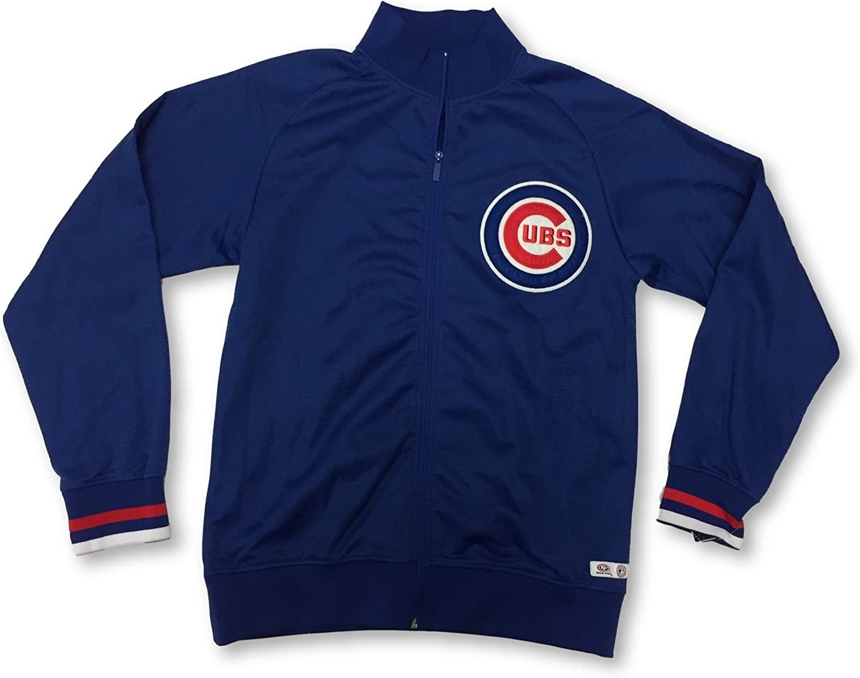 Large DYNASTY Chicago Cubs Mens Full Zip Blue Jacket