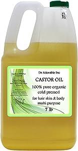 Castor Oil Pure Organic Cold Pressed Virgin 7 Lb/One Gallon