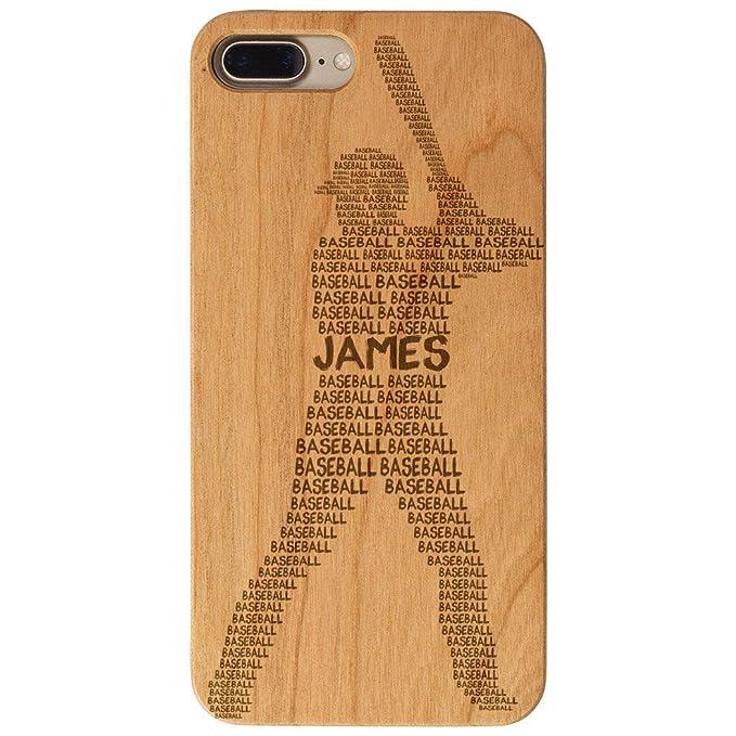 best cheap acc94 49d7e Amazon.com: Custom Baseball Engraved Wood iPhone 6/7/8 Case ...