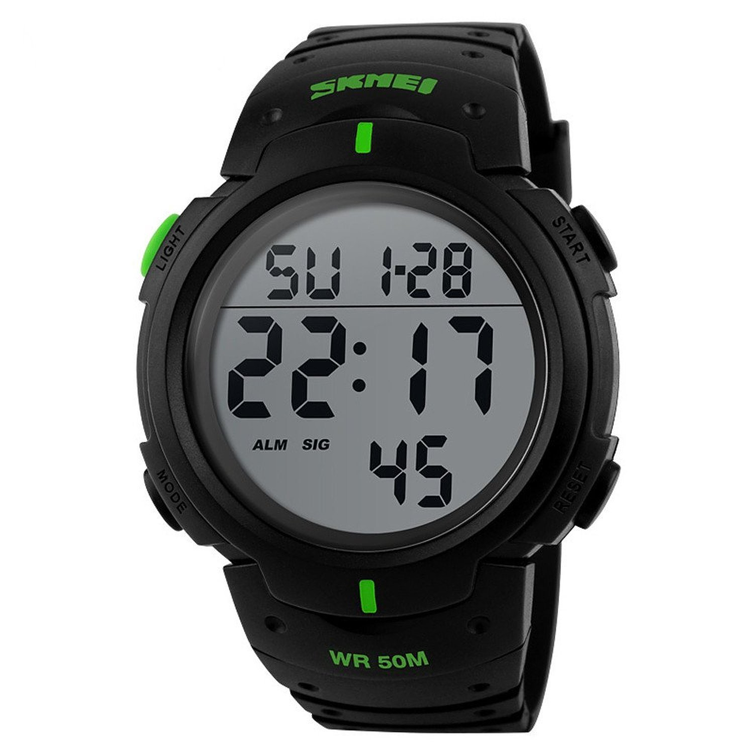 Gosasa Digital Sports Watch LED Screen Large Face Military Watches and Waterproof Casual Luminous Simple Watch