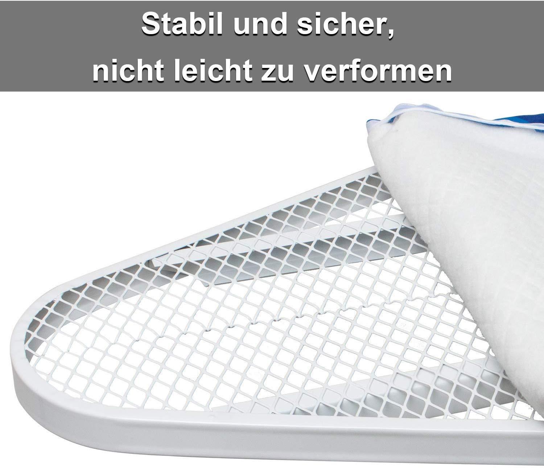 Unineeo Mesa de Planchar Ajustable en Altura Tabla de Planchar Estable y Antideslizante para Plancha de Vapor Mesa de Planchar a Vapor Azul 90 x 30 cm