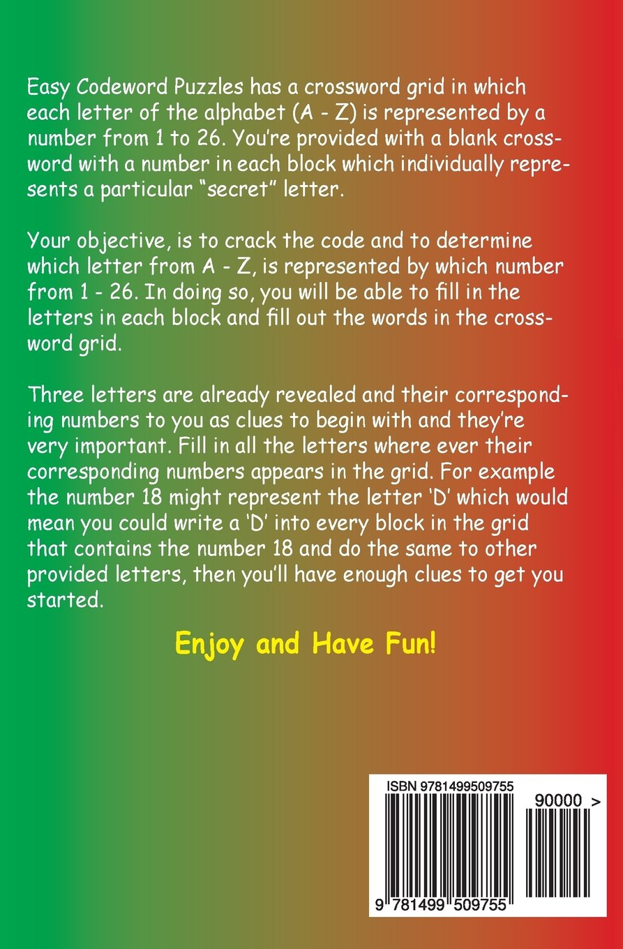 Easy Codeword Puzzles (Volume 1): R. Muhawe: 9781499509755: Amazon.com:  Books