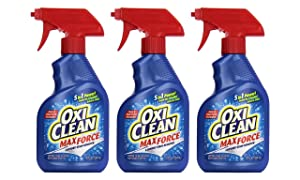 OxiClean Max Force Laundry Stain Remover Spray 12 Ounce (Pack of 3)