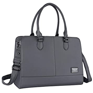 e4d3f2e716a MOSISO Laptop Tote Bag for Women (Up to 15.6 Inch), Premium PU Leather