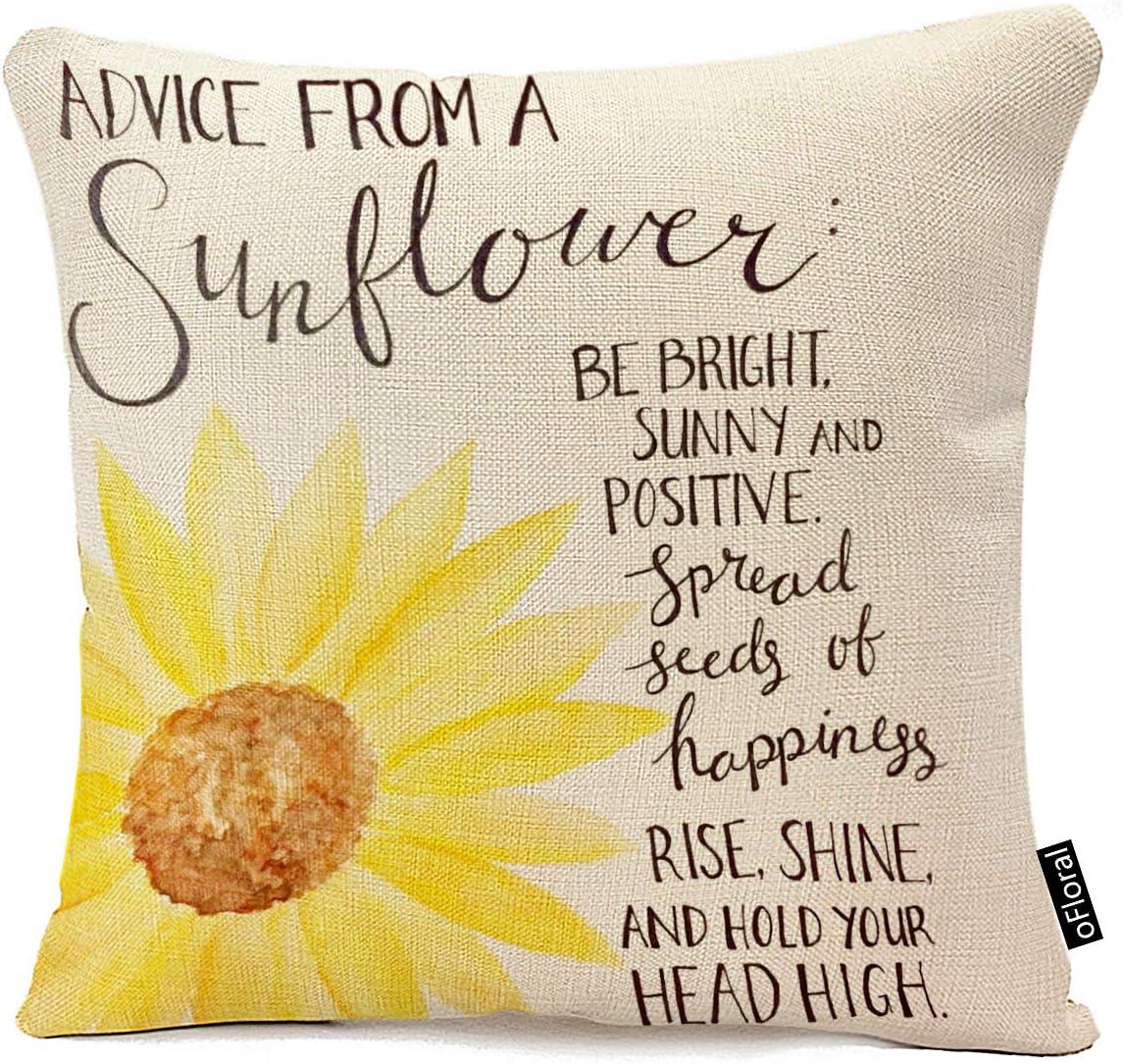 New Sunflower Polyester Cushion Cover Pillow Case Waist Throw Home Sofe Decor 18