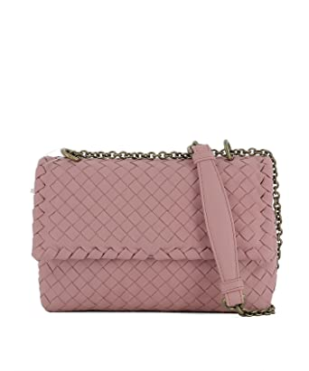 f4c7fc32fb Bottega Veneta Women s 405739V00ad5718 Pink Leather Shoulder Bag ...