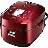 日立 圧力&スチームIHジャー炊飯器(5.5合炊き) メタリックレッドHITACHI 圧力スチーム炊き ふっくら御膳 RZ-AW3000M-R