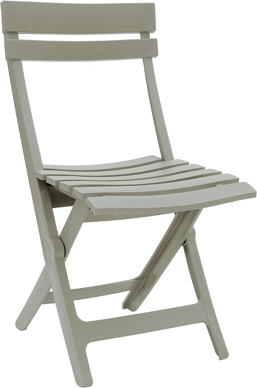 Grosfillex Miami Silla Plegable, Lino, 42 x 9 x 93 cm