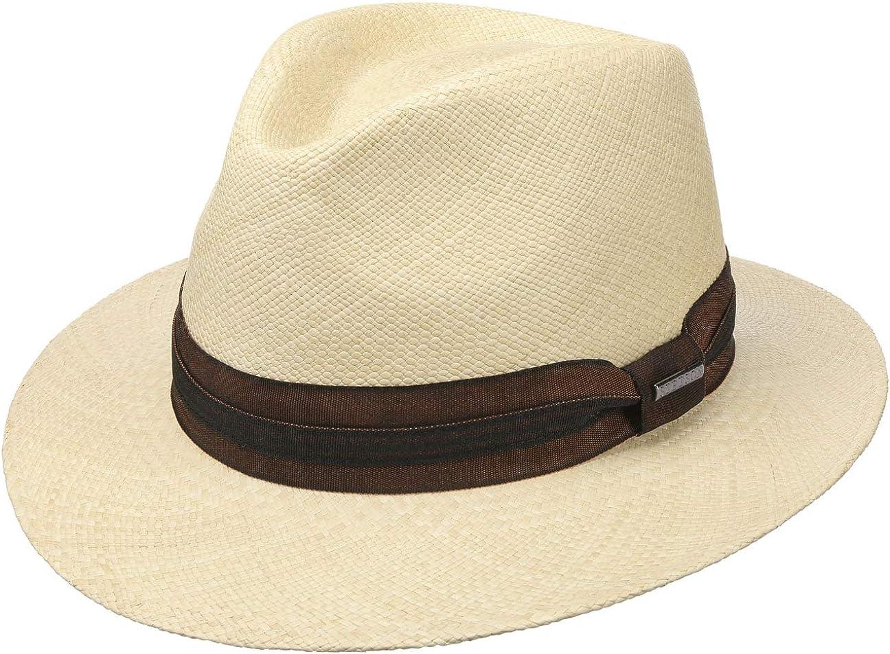 Stetson Sombrero Panamá Kamarro Hombre - Made in Ecuador de Sol Verano Paja Primavera/Verano