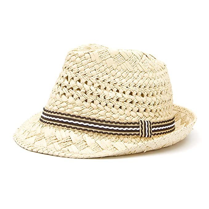 e765771cd03f2 ylovego Fashion 100% Handwork Child Summer Straw Sun Hat Boy Boho Beach  Fedora Hat Sunhat