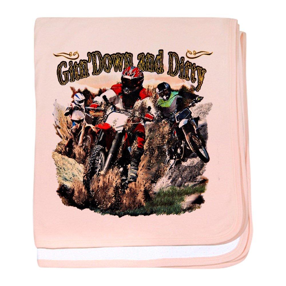 Royal Lion Baby Blanket Gitn' Down and Dirty Dirt Bikes - Petal Pink