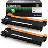 2-Pack LINKYO Replacement Toner Cartridges for Brother TN660 TN-660 TN630 (Black, High Yield)