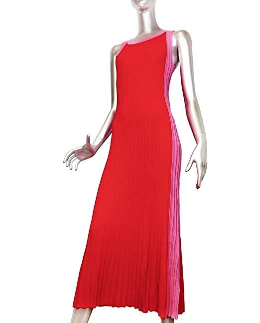 Zara Women Long Two-Tone Dress 9874/002 at Amazon Womens Clothing store: