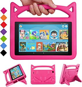 New Amazon Kindle HD 10 Tablet Kids Case, Mr. Spades Fire HD 10 Kid's Friendly Cases with Handle Stand, Light Weight Shock Proof Covers for Latest Model Fire HD 10 Tablet (9th/7th/5th Generation)