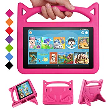 best website 08978 50924 Fire 7 Tablet Case for Kids - SHREBORN Kids Shock Proof Protective Cover  with Handle and Foldable Bracket for Kindle Fire 7 Inch Tablet (Compatible  ...