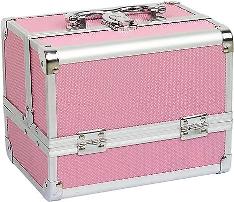 HBF Mallette Valise /à Maquillage en Aluminium Bo/îte /à Maquillage Beauty Case Parfait Cadeau