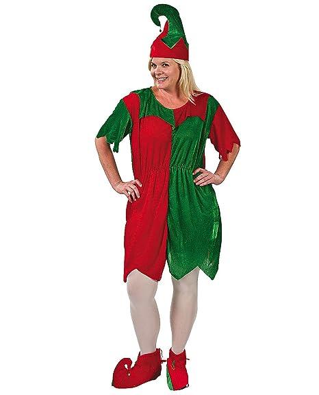 Plus Size Christmas Costumes.Plus Size Elf Santa Helper Dress Costume Adult Womens Holiday Christmas
