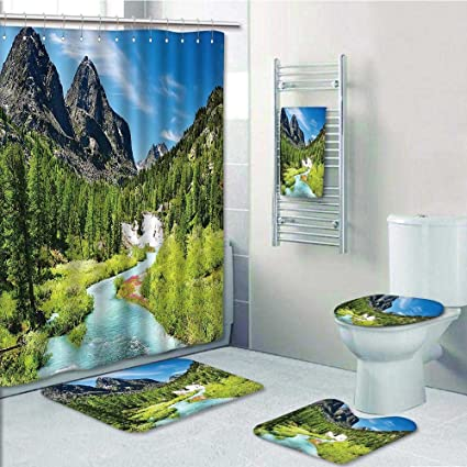 Amazon.com: 5-piece Bathroom Set-Alta Pine Design Rain River and ...