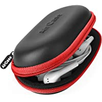 AirCase C41 Earphone Case Pouch & Travel Organizer for Earphone, Pen Drives, Memory Card, Data Cable (Red Zip)