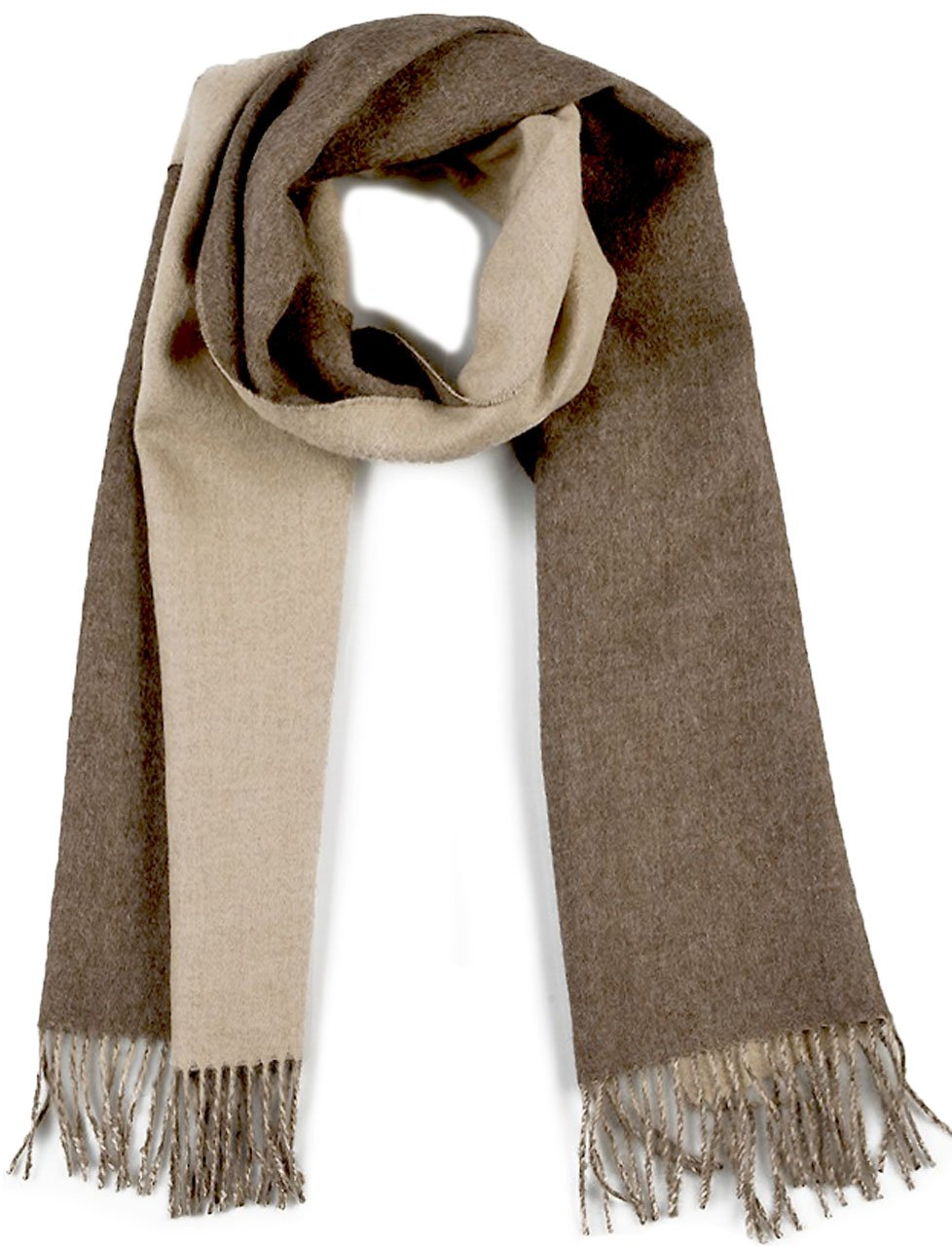 100% Pure Baby Alpaca Scarf - Contrast Scarf (Heather Linen) by Incredible Natural Creations from Alpaca - INCA Brands