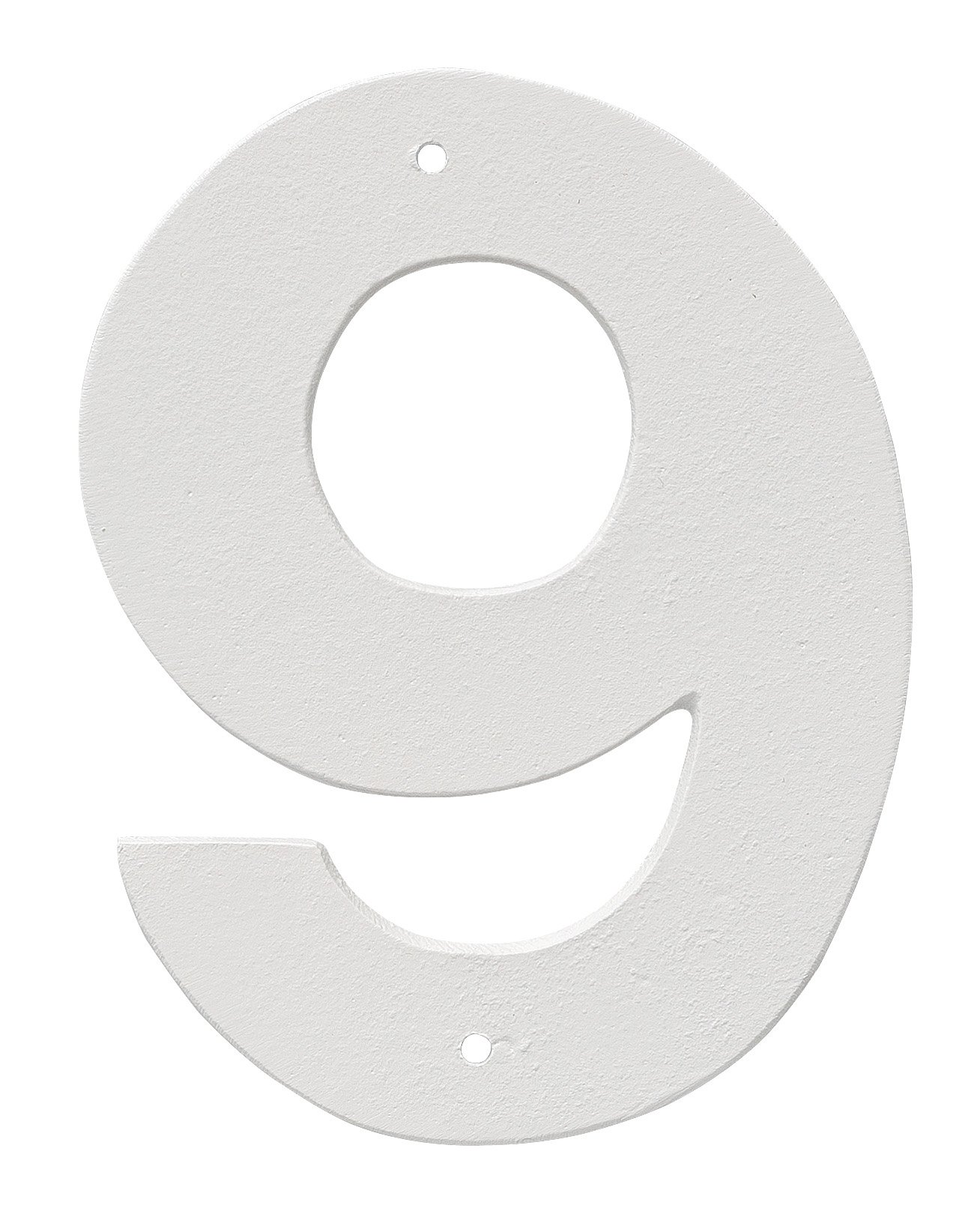 Montague Metal Products 8'' Aluminum House Number 9 Outdoor Plaque, Medium, White