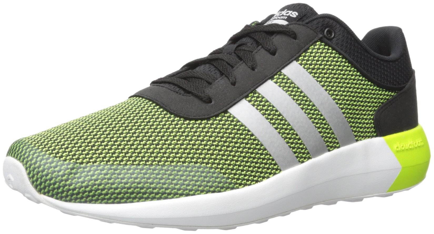 adidas Originals Men's Cloudfoam Race Running Shoe, Black/White/Tech Grey, 7.5 M US